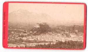 Fotografie Würthle & Spinnhirn, Salzburg, Ansicht Salzburg, Panorama vom Kapuzinerberg gesehen