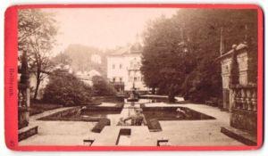Fotografie Würthle & Spinnhirn, Salzburg, Ansicht Salzburg-Hellbrunn, Villa und Brunnen