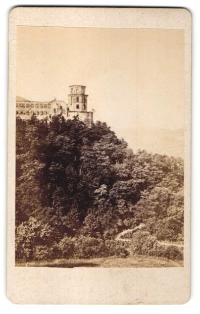Fotografie Fotograf unbekannt, Ansicht Heidelberg, Blick zum Schloss