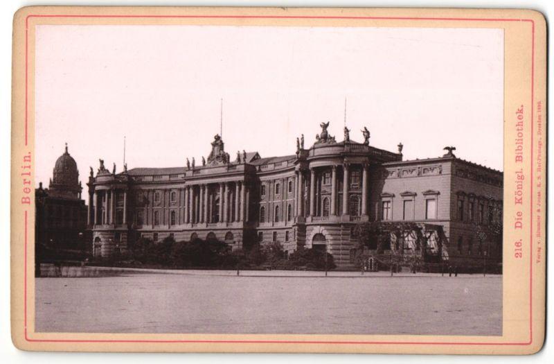 Fotografie Römmler & Jonas, Dresden, Ansicht Berlin, königliche Bibliothek