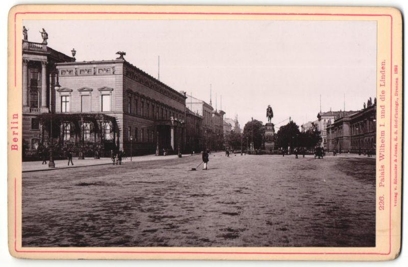 Fotografie Römmler & Jonas, Dresden, Ansicht Berlin, Unter den Linden, Palais Wilhelm