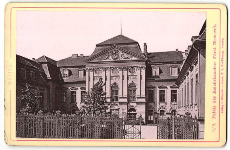Fotografie Römmler & Jonas, Dresden, Ansicht Berlin, Palais des Reichskanzlers Fürst Bismarck