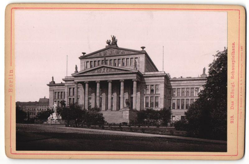 Fotografie Römmler & Jonas, Dresden, Ansicht Berlin, das königliche Schauspielhaus