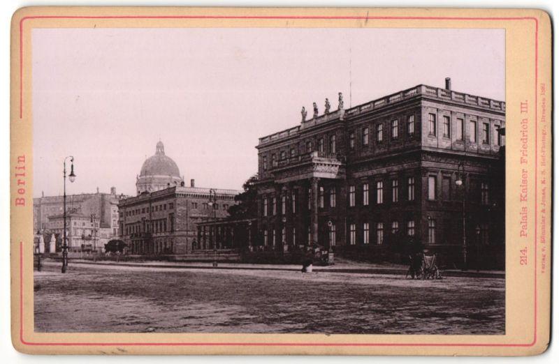 Fotografie Römmler & Jonas, Dresden, Ansicht Berlin, Palais Kaiser Friedrich III.