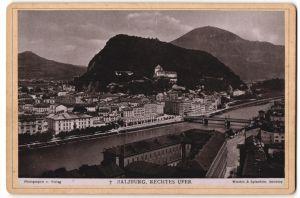 Fotografie Würthle & Spinnhirn, Salzburg, Ansicht Salzburg, Rechtes Ufer