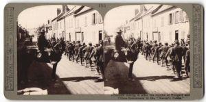 Stereo-Fotografie Transport deutscher Kriegsgefangener nach der Kaiserschlacht bei Hangard und Villers-Bretonneux