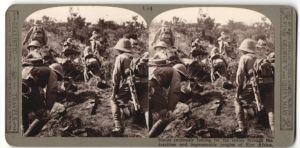 Stereo-Fotografie britische Kundschafter im Einsatz in Ostafrika, Kolonialtuppen