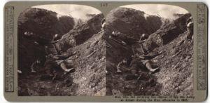 Stereo-Fotografie gefallene Briten die den Rückzug der 5. Armee bei Albert sicherten, während der dt. Offensive 1918