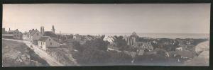 Fotografie Fotograf unbekannt, Ansicht Wisby / Schweden, Panorama der Ortschaft, Grossformat 27 x 8cm