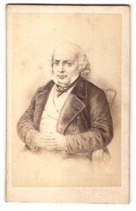Fotografie Charlet & Jacotin, Paris, Portrait Pierre-Jean de Beranger, Lyriker