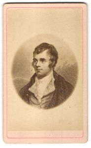 Fotografie Portrait Robert Burns, Dichter
