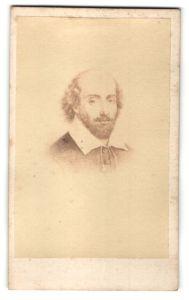 Fotografie Portrait William Shakespeare, Dichter