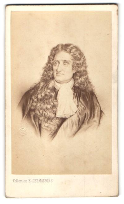 Fotografie E. Desmaisons, Paris, Portrait Jean de la Fontaine, Schriftsteller