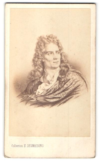 Fotografie E. Desmaisons, Paris, Portrait Nicolas Boileau, Schriftsteller