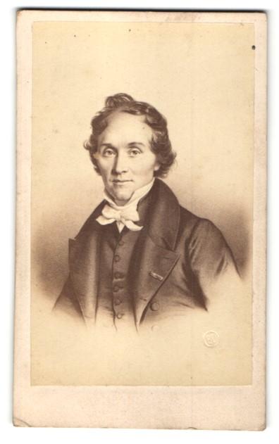 Fotografie E. Desmaisons, Paris, Portrait Casimir Delavigne, Dichter