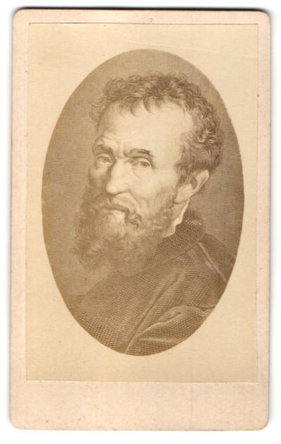 Fotografie Portrait Michelangelo, Maler und Bildhauer