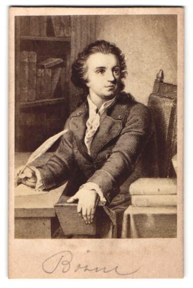 Fotografie Miethke & Wawra, Wien, Portrait Ludwig Börne, Journalist
