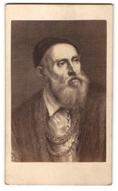 Fotografie Gustav Schauer, Berlin, Portrait Tizian, Maler