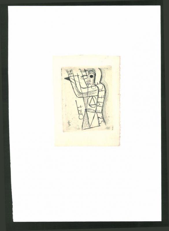 Exlibris von Vogenauer für Szemere, abstrake Gestalt