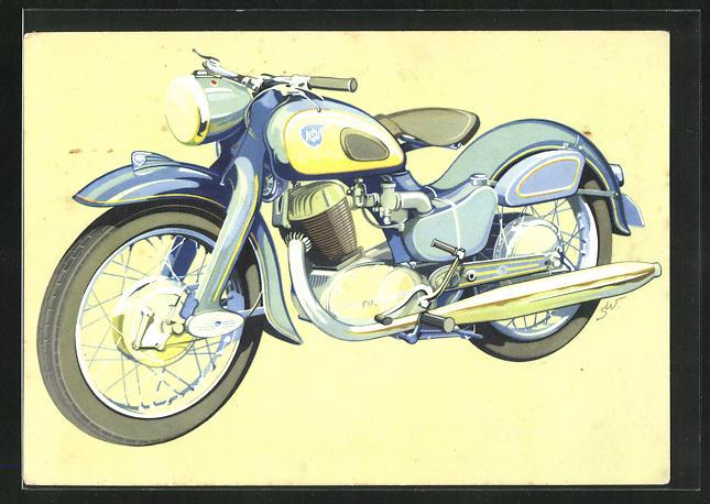 AK Motorrad NSU-Max, auf der Strasse und im Gelände erfolgreichste Maschine ihrer Klasse
