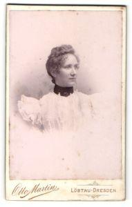 Fotografie Otto Martin, Dresden-Löbtau, Portrait junge Dame mit Hochsteckfrisur