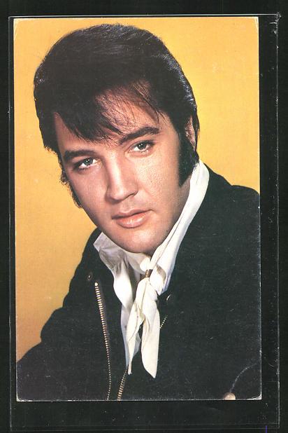 AK Musiker Elvis Presley mit Koteletten
