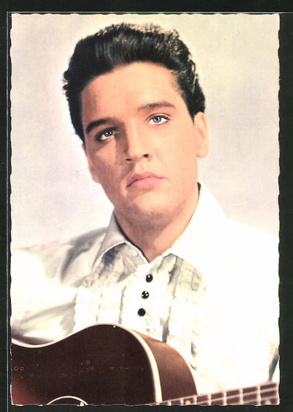 AK Musiker Elvis Presley mit Gitarre