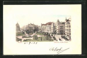 AK Berlin-Schöneberg, Blick auf den Viktoria Luise Platz
