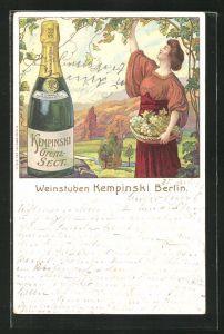 Lithographie Berlin, Restaurant Weinstuben Kempinski, bei der Weinlese