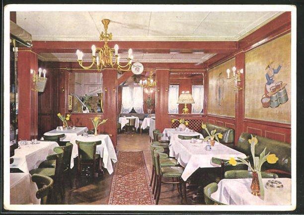 AK Hamburg-St. Pauli, Cafe Onkel Hugo, Reeperbahn