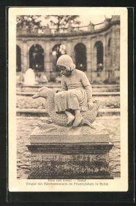 AK Berlin-Friedrichshain, Märchenbrunnen Gretel aus der Hänsel und Gretel-Gruppe im Friedrichshain