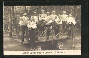 AK Basler Jodler-Doppel-Quartett Edelweiss