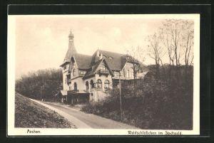 AK Aachen, Gasthaus Waldschlösschen im Stadtwald