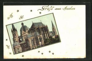 Präge-AK Aachen / Rheinland, Der Dom