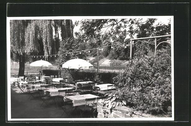 AK Essen / Ruhr, Gasthof Haus Siepen, Gartenterrasse