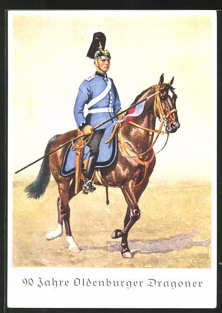 AK Oldenburg, 90 Jahre Oldenburger Dragoner 1939, Dragoner in Uniform