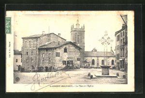 AK St-Genest-Malifaux, La Place et l'Eglise