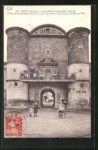 AK Mont Pilat, St-Croix-en-Jarez, Porte monumentale (XVII.) de l`ancienne Chartreuse fondee en 1280