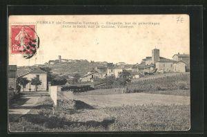 AK Vernay, Chapelle, but de pelerinages dans le fond, sur la Colline, Villerest