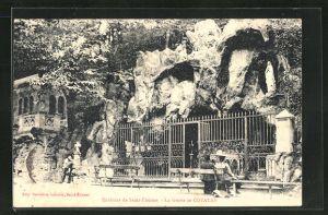 AK Cotatay, La Grotte, Besucher an der Grotte