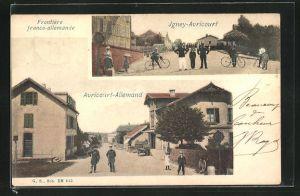 AK Avricourt, Frontiere franco-allemende von Igney-Avricourt bis Avricourt-Allemand, Ortspartien