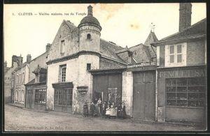 AK Cloyes, Vieilles maisons, rue du Temple