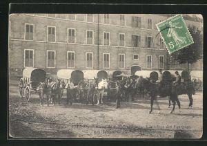 AK Vernon, Scene de la militaire, L'Attelage des Fourgons