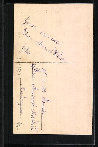 AK Drei kleine Schornsteinfeger mit Geldsäcken in einer Schachtel 1