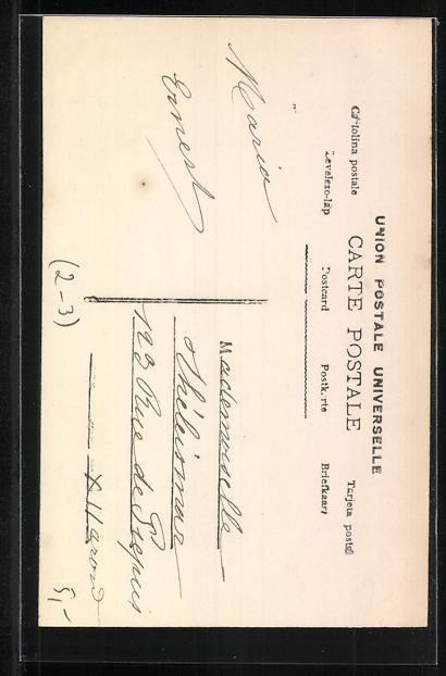AK Briefträgerin, Frau in Briefträgeruniform mit Briefkiste 1