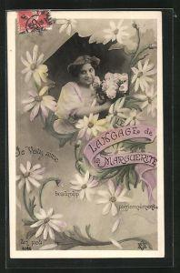 AK Langage de la Marguerite: Passionnement, Blumensprache