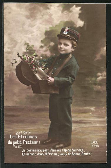 AK Les Etrennes du petit Facteur!, kleiner Briefträger 0