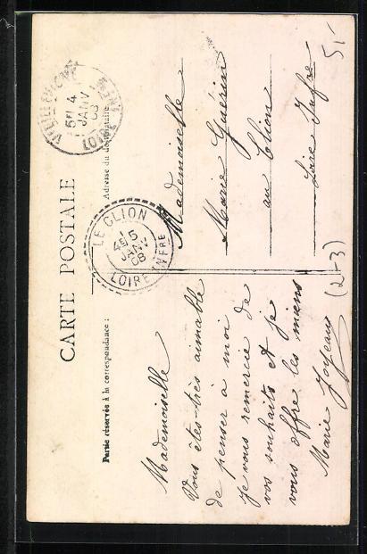 AK Kleiner Briefträger mit Tasche Heureux Nouvel An 1
