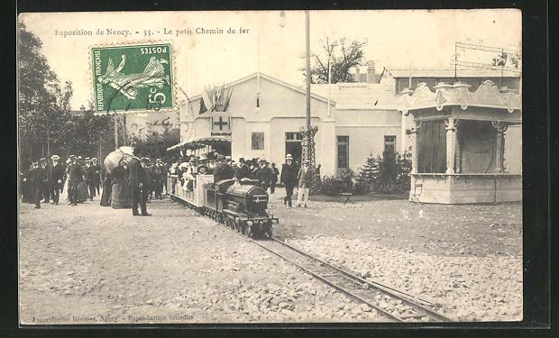 AK Nancy, Exposition Nancy, Le Petit Chemin de fer dans la Gare 0