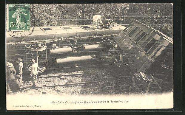 AK Nancy, Catastrophe de Chemin de fer du 12 Septembre 1911 0